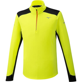 Mizuno Warmalite Half-Zip Longsleeve Men safety yellow